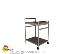 Sims 4 — Derby Dining Cart by Onyxium — Onyxium@TSR Design Workshop Outdoor And Garden Collection | Belong To The 2021
