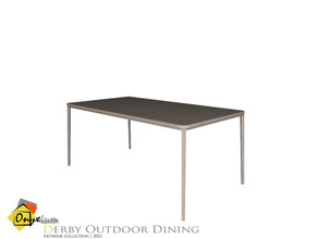 Sims 4 — Derby Dining Table by Onyxium — Onyxium@TSR Design Workshop Outdoor And Garden Collection | Belong To The 2021