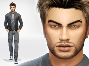 Sims 4 — Carlo Munch by perelka8809 — Name: Carlo Munch Age: Young Adult If you want sim like this, You need all CC