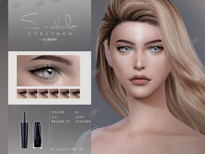 Sims 4 — S-Club LL ts4 eyeliner 202101 by S-Club —  2D eyeliner for pretty women, enjoy !