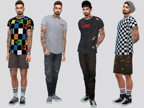 Sims 4 — VANS Ex Tees by McLayneSims — TSR EXCLUSIVE Standalone item 10 Swatches MESH by Me NO RECOLORING Please don't