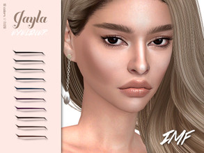 Sims 4 — IMF Jayla Eyeliner N.120 by IzzieMcFire — Jayla Eyeliner N.120 contains 10 colors in hq texture. Standalone item