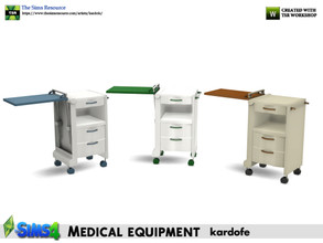 Sims 4 — kardofe_Medical equipment_Auxiliary table by kardofe — Hospital bedside table, with tray on the right side, in