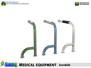 Sims 4 — kardofe_Medical equipment_Grab bar right side by kardofe — Right side grab bar, floor to wall, to be placed next