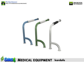 Sims 4 — kardofe_Medical equipment_Grab bars left side by kardofe — Left side grab bar, from floor to wall, to be placed