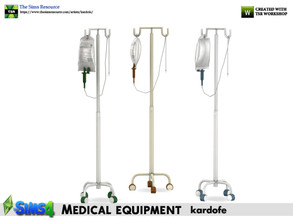 Sims 4 — kardofe_Medical equipment_Serum Hanger by kardofe — Hanger with wheels to hold a bottle of serum. In three