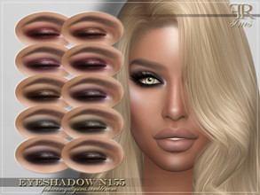 Sims 4 — FRS Eyeshadow N155 by FashionRoyaltySims — Standalone Custom thumbnail 10 color options HQ texture Compatible