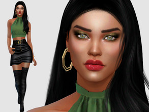 Sims 4 — Jessica Avila by DarkWave14 — Download all CC's listed in the Required Tab to have the sim like in the pictures.