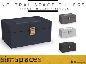 Sims 4 — Neutral Space Fillers - trinket box - single by simspaces — Got spaces to fill? Don't want anything flashy that