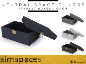 Sims 4 — Neutral Space Fillers - trinket box - open by simspaces — Got spaces to fill? Don't want anything flashy that