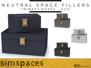 Sims 4 — Neutral Space Fillers - trinket box - duo by simspaces — Got spaces to fill? Don't want anything flashy that
