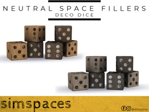 Sims 4 — Neutral Space Fillers - deco dice by simspaces — Got spaces to fill? Don't want anything flashy that would
