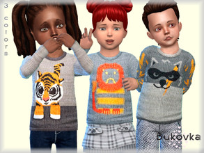 Sims 4 — Shirt Grey  by bukovka — Shirt for babies. Installed standalone, suitable for the base game. 3 color options.