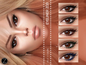Sims 4 — EYELINER Z03 by ZENX — -Base Game -All Age -For Female -17 colors -Works with all of skins -Compatible with HQ