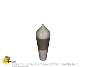 Sims 4 — Fargo Vase Tall by Onyxium — Onyxium@TSR Design Workshop Living Room Collection | Belong To The 2021 Year