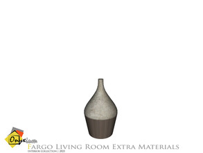 Sims 4 — Fargo Vase Short by Onyxium — Onyxium@TSR Design Workshop Living Room Collection | Belong To The 2021 Year