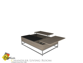 Sims 4 — Chandler Coffee Table by Onyxium — Onyxium@TSR Design Workshop Living Room Collection | Belong To The 2021 Year