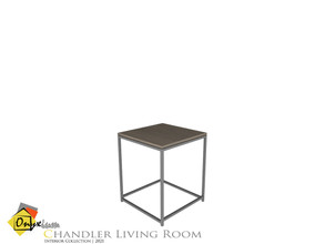 Sims 4 — Chandler End Table by Onyxium — Onyxium@TSR Design Workshop Living Room Collection | Belong To The 2021 Year