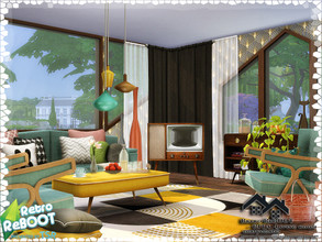 Sims 4 — Retro ReBOOT - RITA -Living Room by marychabb — I present a room - Living room, that is fully equipped. Tested.