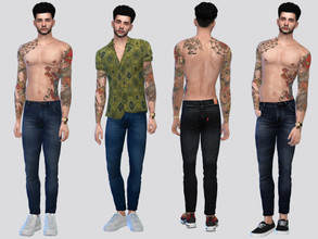 Sims 4 — Zandro Denim Jeans by McLayneSims — TSR EXCLUSIVE Standalone item 7 Swatches MESH by Me NO RECOLORING Please