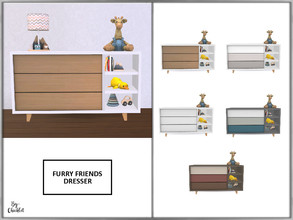 Sims 4 — Furry Friends Dresser by Chicklet — Creating a relaxing, safe, and friendly personal space for your little ones
