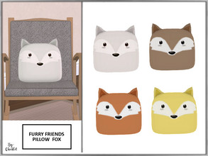Sims 4 — Furry Friends Pillow Pal Fox by Chicklet — Creating a relaxing, safe, and friendly personal space for your