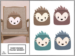 Sims 4 — Furry Friends Pillow Pal Monkey by Chicklet — Creating a relaxing, safe, and friendly personal space for your