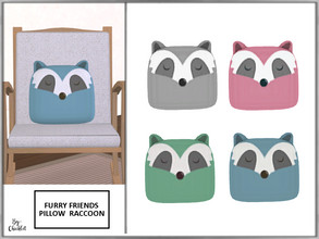 Sims 4 — Furry Friends Pillow Pal Raccoon by Chicklet — Creating a relaxing, safe, and friendly personal space for your