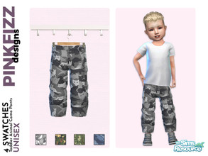 Sims 4 — Toddler Animal Camo Pants by Pinkfizzzzz — These cute little camo trousers are the perfect addition to your