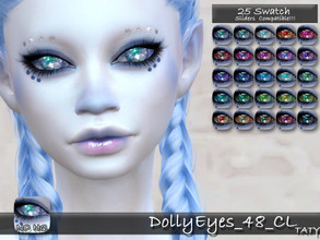 Sims 4 — [Ts4]Taty_DollyEyes_48_CL by tatygagg — - Female, Male - Human, Alien - Toddler to Elder - Hq Compatible -
