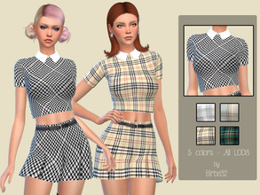 Sims 4 — Alyssa Shirt by Birba32 — Nice short shirt in five colors for a young style. New mesh, all lods, base game.