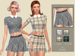 Sims 4 — Alissa skirt by Birba32 — Nice short skirt in five colors for a young style. New mesh, all lods, base game.