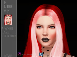 Sims 4 — D Blush V14 by Reevaly — 3 Swatches. Teen to Elder. For Male and Female. Base Game compatible. Please do not
