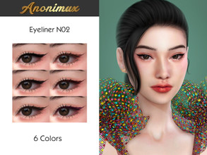 Sims 4 — Anonimux - Eyeliner N02 by Anonimux_Simmer — - 6 Colors - Compatible with the color slider - Base Game