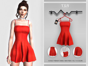 Sims 4 — Scarlet Midnight Dress BD435 by busra-tr — 14 colors Adult-Elder-Teen-Young Adult For Female Custom thumbnail