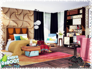 Sims 4 — Retro ReBOOT - RITA - Bedroom by marychabb — I present a room - Bedroom, that is fully equipped. Tested. 12,789