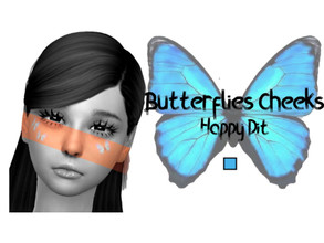 Sims 4 — Butterflies Cheeks By HappyDit by HappyDit — -1 swatch - base game compatible - Teen/Elder - custom thumbnail
