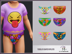 Sims 4 — Toddler DIAPER RPL87B by RobertaPLobo — :: 6 swatches :: All lods :: For Toddler Boy and Girl :: Custom