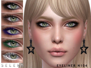 Sims 4 — Eyeliner N104 by Seleng — Female Teen to Elder 6 swatches Custom Thumbnail HQ compatible The picture was taken