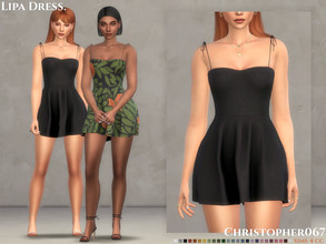 Sims 4 — Lipa Dress / Christopher067 by christopher0672 — This is a super cute mini dress with a super flowy skirt and
