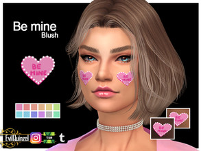 Sims 4 — Be mine Blush by EvilQuinzel — - Blush category; - Female and male; - Teen + ; - All species; - 12 colors; - HQ