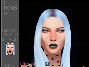 Sims 4 — D Freckles V1 by Reevaly — 3 Swatches. Teen to Elder. For Male and Female. Base Game compatible. Please do not