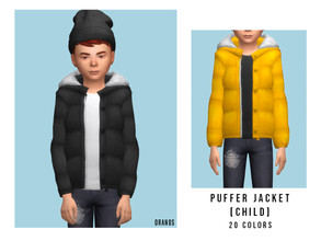 Sims 4 — Puffer Jacket [Child] by OranosTR — - New Mesh - 20 Colors - Female - Male [Unisex] - HQ mode compatible -