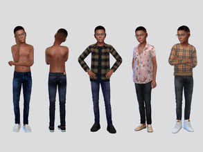 Sims 4 — Zandro Denim Jeans Boys by McLayneSims — TSR EXCLUSIVE Standalone item 7 Swatches MESH by Me NO RECOLORING