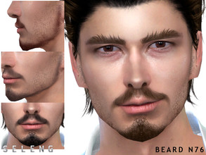 Sims 4 — Beard N76 by Seleng — Teen to Elder 10 colours Custom Thumbnail HQ mod compatible The picture was taken with HQ