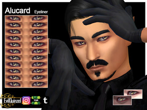 Sims 4 — Alucard Eyeliner by EvilQuinzel — - Eyeliner category; - Female and male; - Teen + ; - All species; - 11 colors;