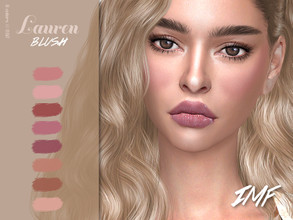 Sims 4 — IMF Lauren Blush N.62 by IzzieMcFire — Lauren Blush N.62 contains 8 colors in hq texture. Standalone item with