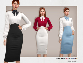 Sims 4 — Joanna Outfit by Sifix2 — - New mesh - 15 swatches - Base game compatible - HQ mod compatible - Teen - Young