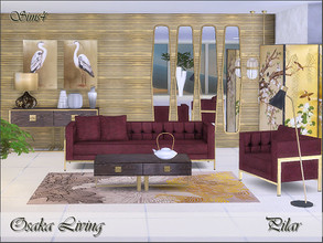 Sims 4 — Osaka Living by Pilar — Timeless elegance with an oriental touch