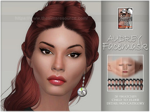 Sims 4 — Audrey facemask by BAkalia — Hello :) Realistic facemask for female sims. It works like a non-default skin but